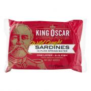 King Oscar Sardines in Extra Virgin Olive Oil Spring Water