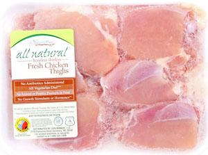 Nature's Place All Natural Boneless Chicken Thighs