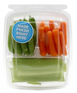 Celery Sticks, Sugar Snap Peas And Sweet Supreme Carrots