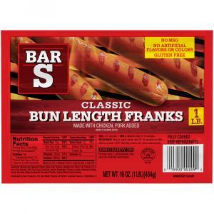 Bar S Classic Bun Length Franks