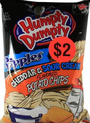 Humpty Ripples Cheddar & Sour Cream Potato Chips