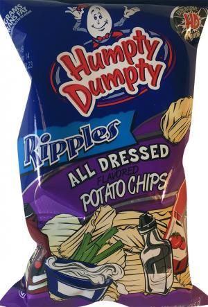 Humpty Dumpty Ripples All Dressed Potato Chips