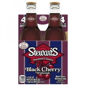 Stewart's Black Cherry with Real Sugar Soda