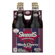 Stewart's Black Cherry with Real Sugar Soda