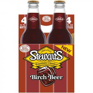 Stewart's Birch Beer With Real Sugar Soda