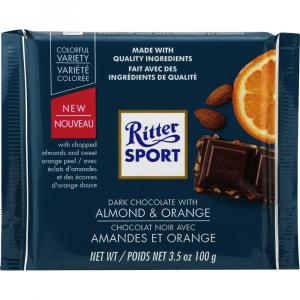 Ritter Sport Dark Chocolate with Almond & Orange