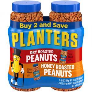 Planters Dry Roasted & Honey Roasted Peanuts