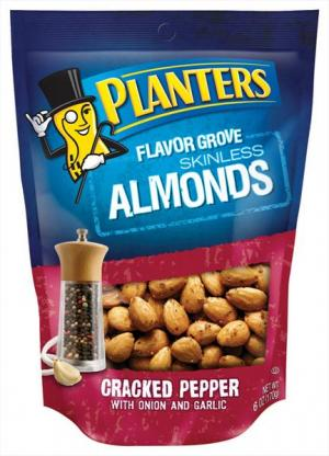 Planters Flavor Grove Almond Cracked Pepper W/onion & Garlic