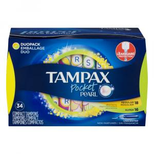 Tampax Pocket Pearl Duo Pack Unscented Tampons