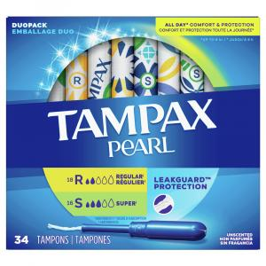 Tampax Pearl Duo Pack Regular/Super Tampons