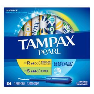 Tampax Pearl Duo Pack Regular/Super Tampons