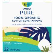 Tampax Pure 100% Organic Duo Pack Regular & Super