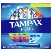 Tampax Pearl Super, Super Plus, Ultra Triple Pack Tampons