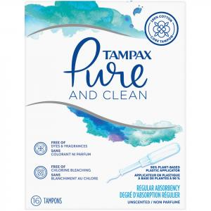 Tampax Pure And Clean Regular Tampons