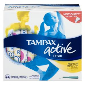 Tampax Pearl Active Regular Unscented