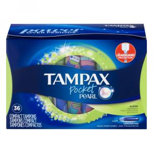 Tampax Pocket Pearl Super Unscented Tampons