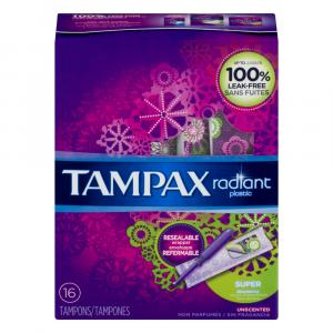 Tampax Radiant Super Unscented Tampons