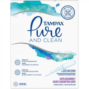 Tampax Pure And Clean Super Tampons