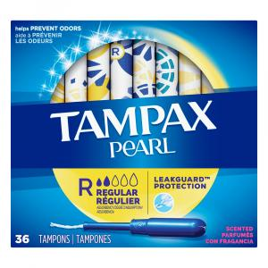 Tampax Pearl Regular Scent 36 Count