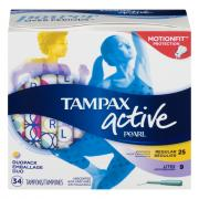 Tampax Pearl Active Regular Light Unscented Tampons