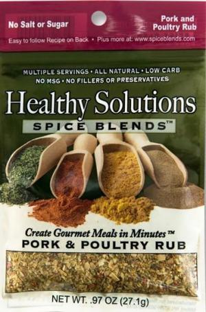 Healthy Solutions Pork & Poultry Rub Spice Blend