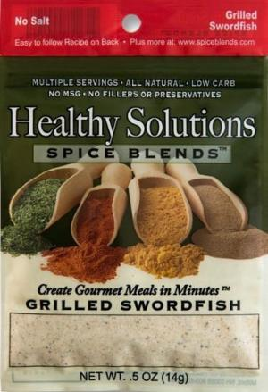 Healthy Solutions Broiled & Grilled Swordfish Spice Blend