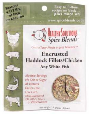 Healthy Solutions Encrusted Haddock Fillet Spice Blend