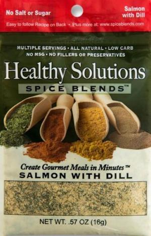 Healthy Solutions Salmon With Dill Spice Blend