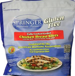 Springer Mountain Farms Gluten Free Breast Slices
