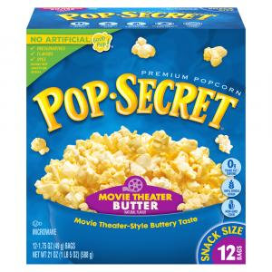 Pop Secret Snack Size Movie Butter Popcorn