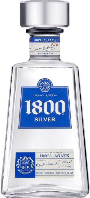 1800 Silver Tequila with Flask