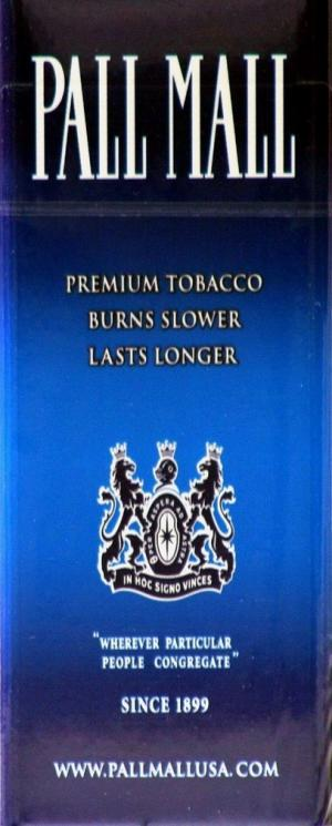 Pall Mall Blue Box 100's Cigarettes