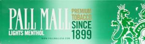 Pall Mall Menthol 85's Box Cigarettes