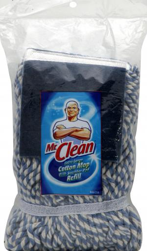 Mr. Clean Extra Large Cotton Mop With Scrubber Pad Refill