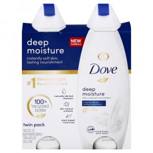 Dove Deep Moisture Body Wash Twin Pack