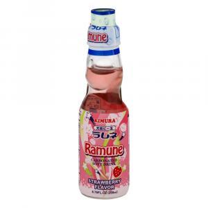 Kimura Ramune Strawberry Soda