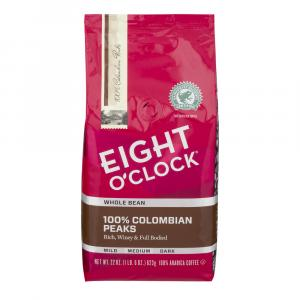 Eight O'clock Colombian Whole Bean Coffee