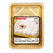 Handi-Foil Gold Cake Pans with Lids
