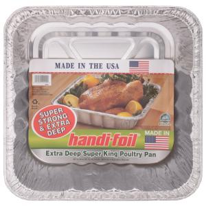 Handi-Foil Extra Deep Super King Poultry Pan