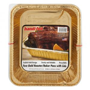 Handi-Foil Gold Roaster/Baker Pans with Lids