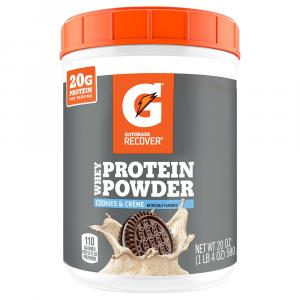Gatorade Recover Whey Protein Powder Cookies & Creme