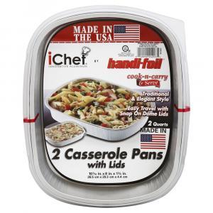 Ichef White Casserole Pans & Lids