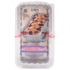 Eco Foil Cook and Carry 2 Lb Loaf Pans with Lids