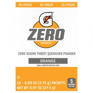 Gatorade Zero Sugar Orange Thirst Quencher Powder