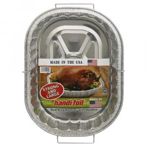 Handi-Foil Oval King Roaster with Handles