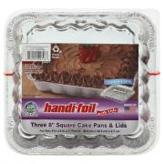 Handi-Foil Cook and Carry Square Cake Pan With Lid