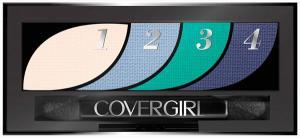 Cover Girl Eye Shadow 4 Kit - Breathtaking Blue