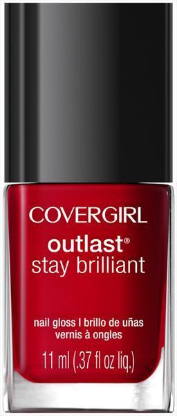 Cover Girl Outlast Stay Brilliant Red Revenge Nail Polish