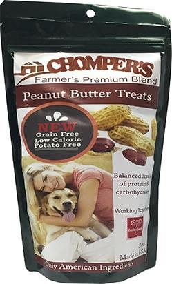 Chompers Peanut Butter And Chickpea Dog Treats