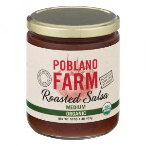 Poblano Farm Roasted Salsa Medium Organic